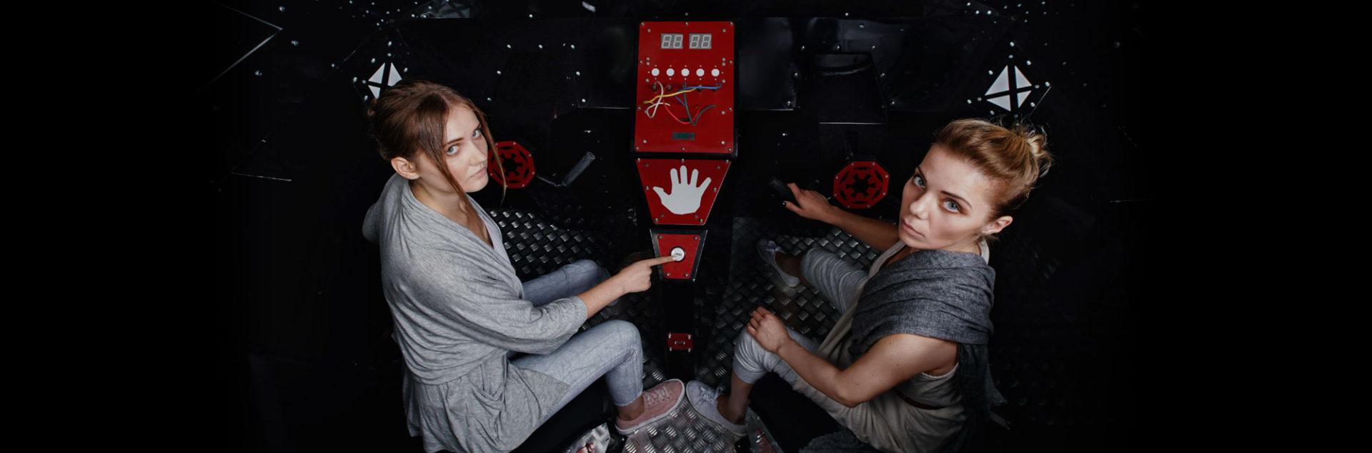 Квест комната Звездные войны - кабина фото